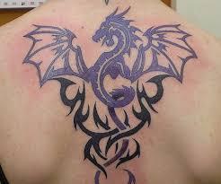 Flying Dragon Tribal Tattoo