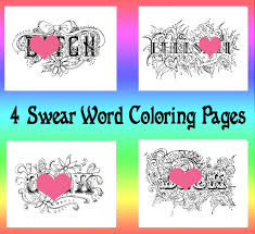 Swear Word Coloring Book Pages Curse Cuss