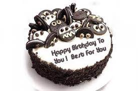 Write a wish on a chocolate birthday cake