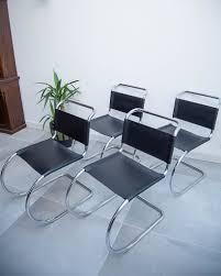 100 Bauhaus Style Mid Century Black Leatherette Chairs