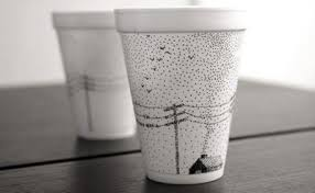 Art and Design by Kev Sharpie Marker and a Styrofoam Cup
