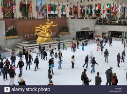 Rockefeller Plaza Christmas Tree Live Cam by Rockefeller Center Ice Rink New York Stock Photos U0026 Rockefeller