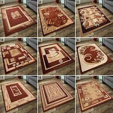 details zu teppich kurzflor teppiche klassisch moderne 200x300 300x400 beige braun öko tex