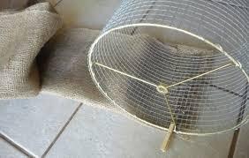 DIY Garden Burlap Lamp Shade Craft Organic