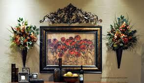 Tuscan Wall Art Old World Floral Arrangements Dahlia