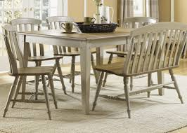 Rectangle Casual Dining Table With Driftwood & Taupe Finish