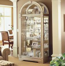 Curved Glass Curio Cabinet by Glass Curio Cabinet Brass Glass Curio Cabinet Mirror Display