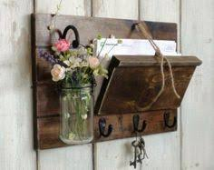 NewUnique OrganizerRustic Wood Mail And By Cottagehomedecor