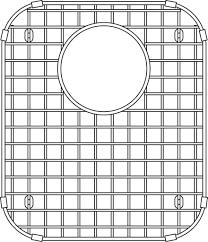 blanco 406466 vision sink grid stainless steel plumbing online