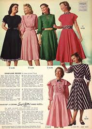 Ugly Dresses From 1949 Just About All Of Them Especially The Pink On Bottom With Pilgrim Shoulders Blech 1948 49 Seemed To Have Ugliest