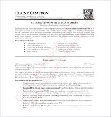 Construction Resume Template Free Best Examples Templates Fee Worker Cv