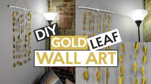 DIY Gold Leaf Wall Art