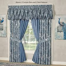 Purple Waterfall Ruffle Curtains by Window Curtains Drapes And Valances Touch Of Class