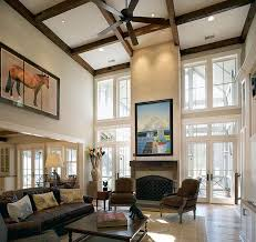 Living Room Sizing It Down How To Decorate A Home With High Ceilings For