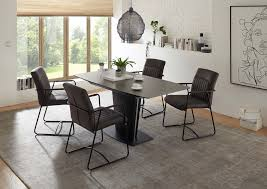 essgruppe 5 tlg esstisch glas ausziehbar grau günstig möbel küchen büromöbel kaufen froschkönig24