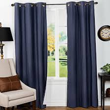 Target Blue Grommet Curtains by Slate Blue And Brown Curtains Blue And Gray Dining Room With
