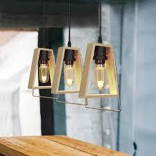 zmh pendelleuchte holz vintage esstischle 3 flammig e27 120cm höhenverstellbare hängele rustikal pendelle deko hängeleuchte für wohnzimmer
