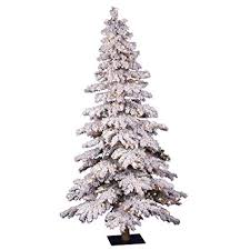 Vickerman Pre Lit Flocked Spruce Alpine Tree With 250 Clear Dura Lights