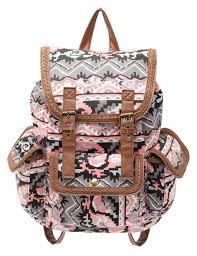 sac a dos toile sac à dos femme en toile imprimé géométrique milanoo