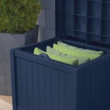 Suncast Db5000 50 Gallon Deck Box by Amazon Com 22 Gal Navy Blue Small Storage Seat Patio Deck Box