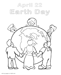 Cartoon People Around The World Coloring Page