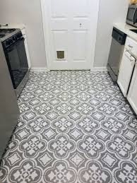 update a dated linoleum floor with a stencil stencil stories