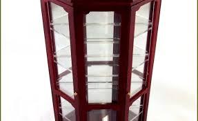 Walmart Corner Curio Cabinets by Cabinet Corner Lighted Curio Cabinet Mahoganycorner Mahogany