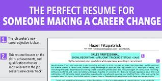 ideal resume for someone a career change business insider