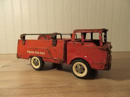 100 Metal Fire Truck Toy Structo Pressed Metal Fire Truck Rustic And Well Loved Vintage Toy