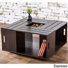 Modern Pallet Coffee Table Square Wood Shelf Contemporary Living Room Furniture