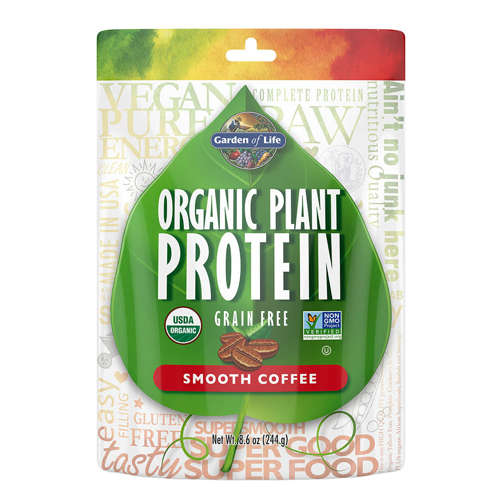 Garden of Life Organic Vegan Plant-Based Protein Powder - Coffee, 8.6oz