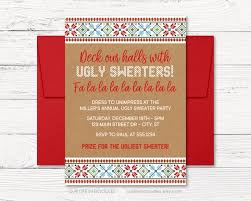 Ugly Sweater Invitation Holidays Christmas Party