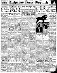 In 1934, A Lion Broke Free During A Parade In Richmond And ...