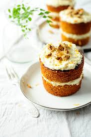 Mini carrot cakes with white chocolate coconut frosting