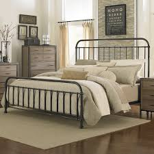 Wrought Iron King Headboard And Footboard by Shady Grove Iron Bed By Magnussen Home Metal Iron Panel