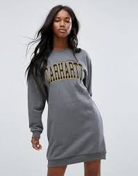 Carhartt WIP Oversized Sweat Dress With Varsity Logo