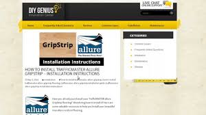Grip Strip Vinyl Flooring how to install trafficmaster allure gripstrip installation quick