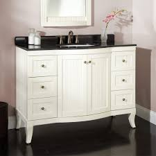 Allen And Roth Bathroom Vanity by Modern White Painted Wooden Vanity Decor With Curved Door And