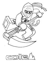 Lego Ninjago Cole Coloring Page