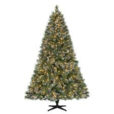 Menards Artificial Christmas Tree Stand by 7 5 Ft Pre Lit Led Sparkling Pine Quick Set Artificial Christmas