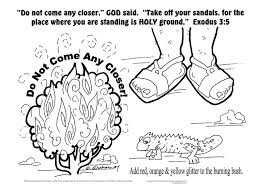 Moses And The Burning Bush Coloring Sheet Printable For Childrens Ministry
