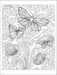 Abstract Butterflies Coloring Page