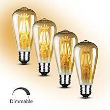 soofoo vintage light bulb 6w edison led bulb soft white 2700k e27