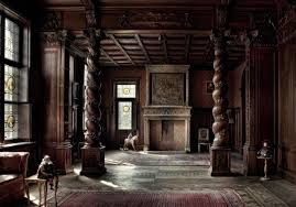 Blac Old House Interiors On The Black Floor With Modern Rug Can Add Beauty Inside