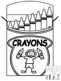 The Day Crayons Quit Coloring Sheet