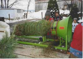Christmas Tree Baler by Visit Our Farm U2013 Tait Farm Christmas Trees
