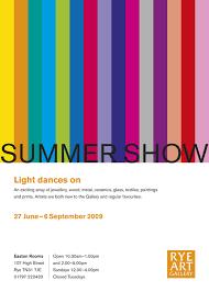 Summer Show Exhibition Poster Rye Art Gallery 2009