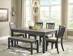 Dining Room Table 4 Upholstered Side Chairs Bench Image 1