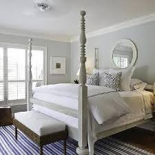 Gray 4 Poster Bed Transitional Bedroom Phoebe Howard