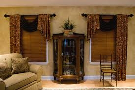Primitive Living Room Curtains by Rendering Of A Luxurious Living Room Shocking Window Swag Ideas
